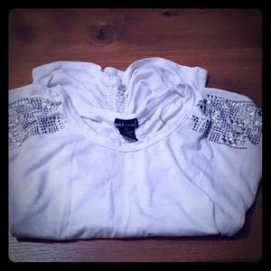 Wet Seal Studded & Rouched  Shirt